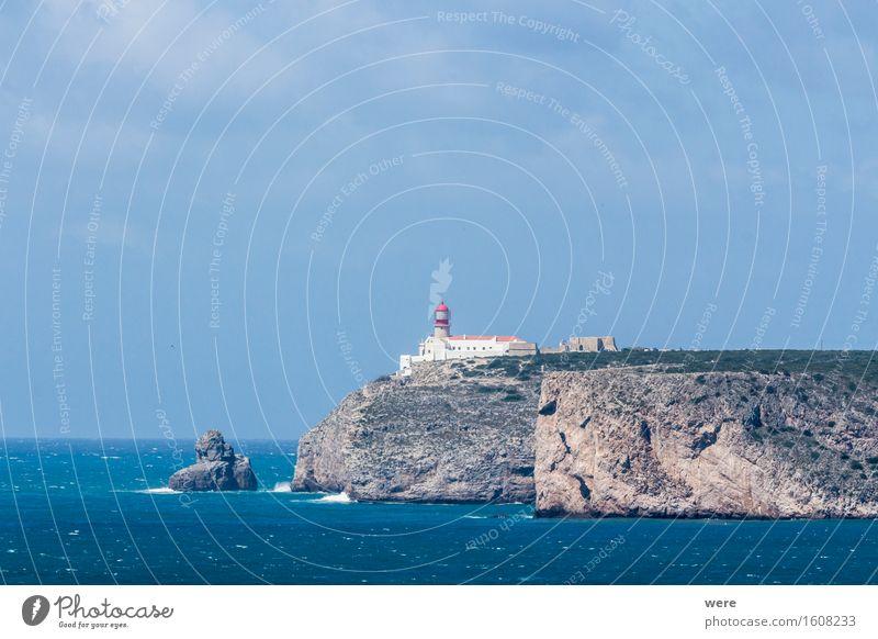 Ein Leuchtturm am Ende der Welt Ferien & Urlaub & Reisen Tourismus Meer Wellen Berge u. Gebirge Wasser Küste Teich See glänzend leuchten werfen Algarve Atlantik