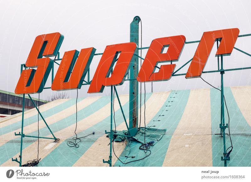 Super Foto rot Freude Feste & Feiern Schriftzeichen Dach Veranstaltung Jahrmarkt Werbung trashig Dynamik Begeisterung Entertainment