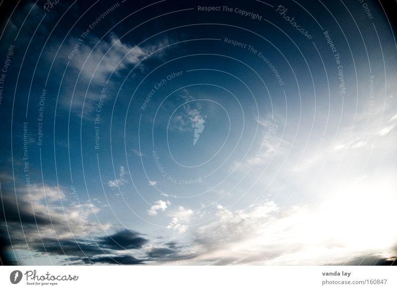 Heiter bis Wolkig Himmel Natur blau Sonne Wolken Regen Wetter Hintergrundbild Schönes Wetter Sturm Gewitter vorhersagen Ozon Naturgewalt