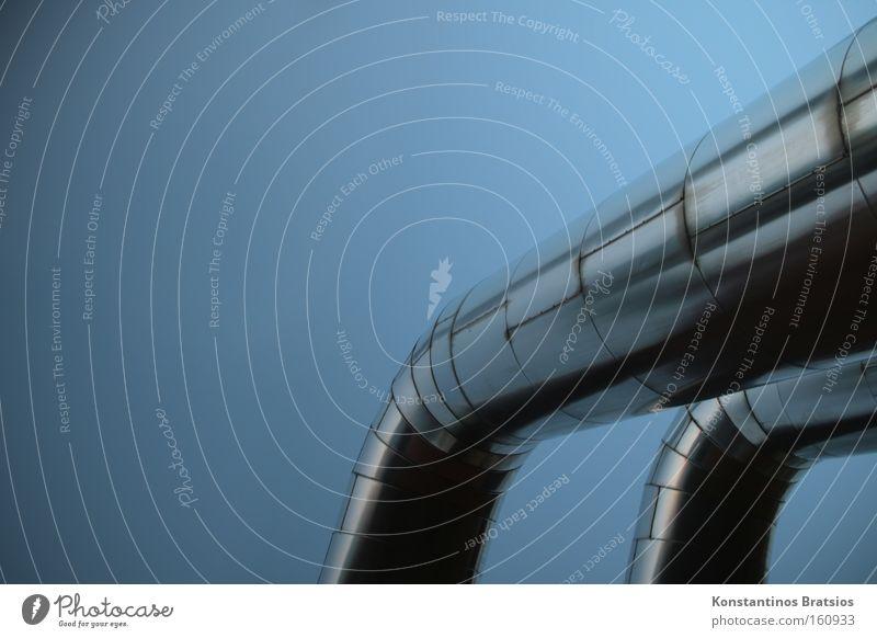 PIPELINES blau groß Industrie rund Industriefotografie Güterverkehr & Logistik Fabrik fest lang dick Unternehmen silber Erdöl Leitung Gas Rohrleitung