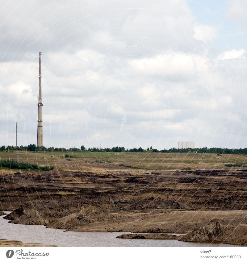 schöne Heimat Landschaft Energie Horizont Industrie Elektrizität gefährlich trist Zukunft Industriefotografie Schornstein ökologisch Umweltschutz Umweltverschmutzung Stromkraftwerke Heizkraftwerk Kohle