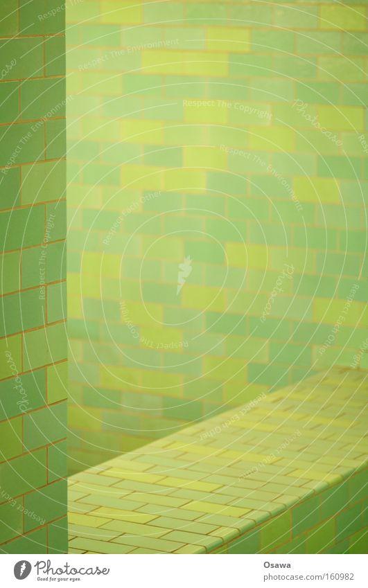 |/ Architektur Fliesen u. Kacheln grün türkis Muster Raster Strukturen & Formen Raum Wand Ecke Keramik überzogen Alexanderplatz Bahnhof