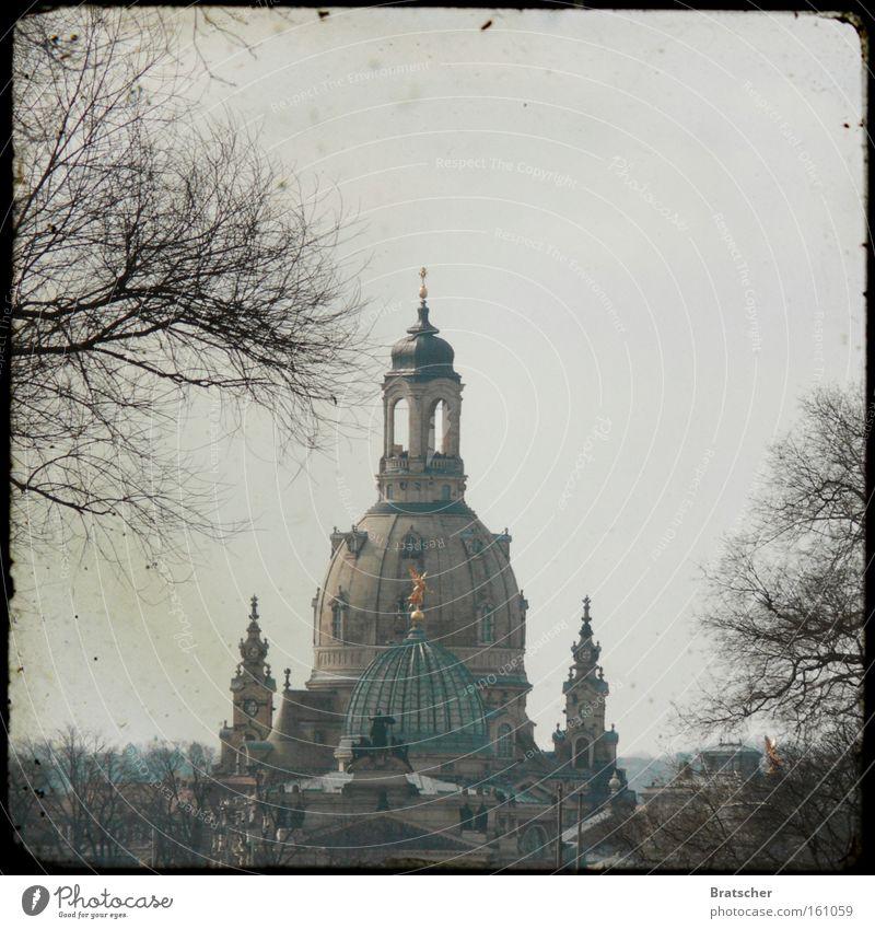 Kirchentag 2011: in Dresden! Architektur Hoffnung Denkmal Wahrzeichen trüb Barock Zweige u. Äste Gotteshäuser Frauenkirche Erneuerung Sachsen Neumarkt