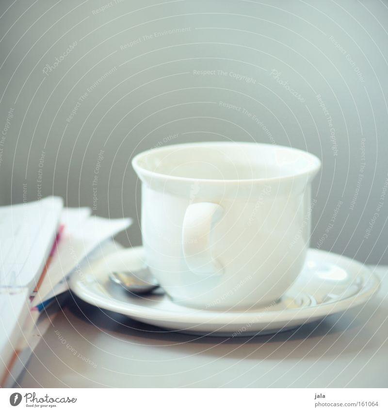 danke für den kaffee weiß Tisch Pause Kaffee Geschirr Dienstleistungsgewerbe Tasse Kunde Auftrag