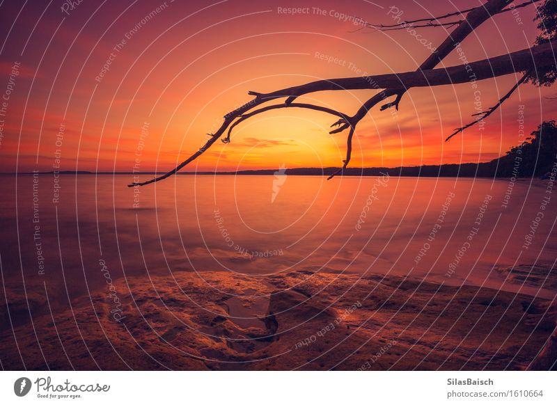 Traum Sonnenaufgang Ferien & Urlaub & Reisen Tourismus Abenteuer Ferne Freiheit Sommer Sommerurlaub Strand Meer Insel Wellen Natur Landschaft Sonnenuntergang