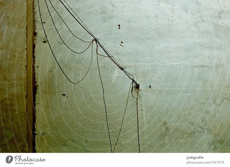 Bettfedernfabrik Farbe Wand Linie Energie Seil Energiewirtschaft Elektrizität Technik & Technologie Schnur Putz Leitung Nähgarn Befestigung Elektrisches Gerät
