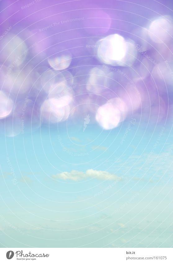 HIMMEL SEE Himmel blau Sommer Wolken Ferne Umwelt Glück träumen Horizont Hintergrundbild glänzend Klima außergewöhnlich Luftverkehr Kitsch geheimnisvoll