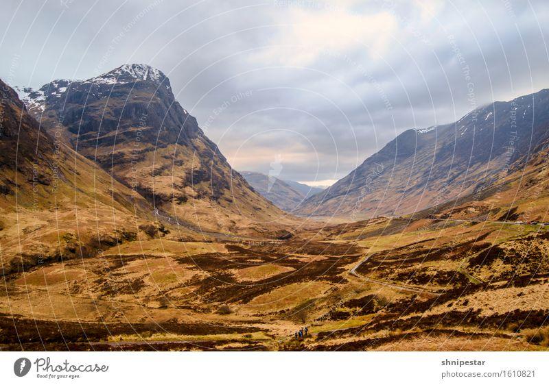 Glen Coe (Gleann Comhann) Himmel Natur Pflanze Sonne Erholung Landschaft Wolken Berge u. Gebirge Umwelt außergewöhnlich Felsen Wetter Erde wandern Sträucher
