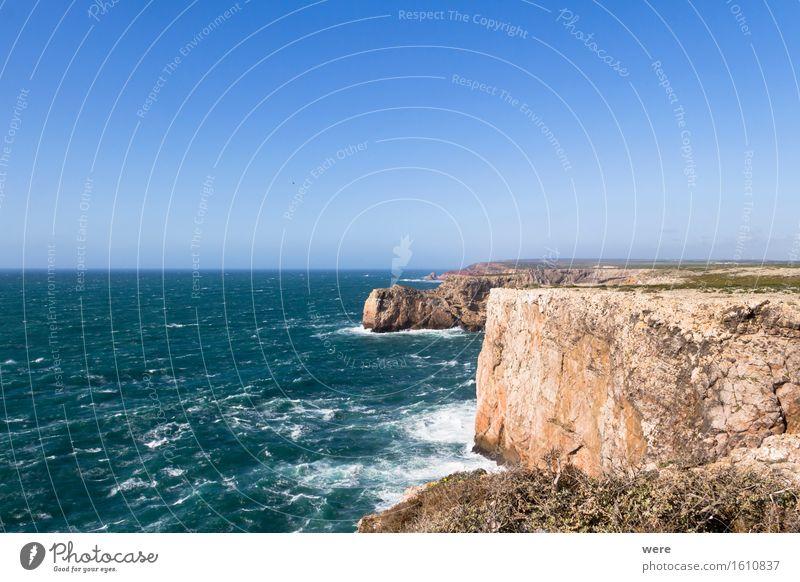 Am Rand der Welt Ferien & Urlaub & Reisen Tourismus Meer Wellen Haus Wasser Küste Teich See Gebäude Architektur bedrohlich frisch gigantisch groß Algarve