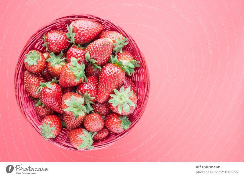 Erdberren Sommer Gesunde Ernährung rot Leben Essen Gesundheit Lebensmittel Arbeit & Erwerbstätigkeit rosa Frucht Häusliches Leben frisch Tisch Fitness Küche