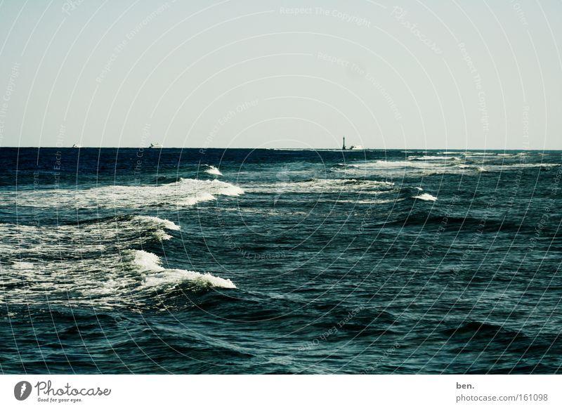 Ora Wasser Meer See Wellen Küste Horizont Brandung Gischt maritim Wellengang
