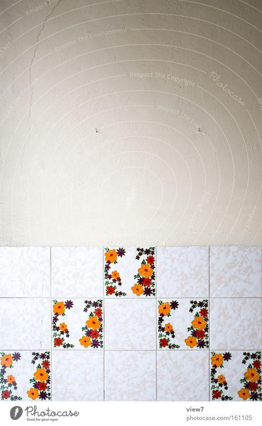 Dekor Tapete gestalten Muster Wand Hintergrundbild Tapetenmuster Siebziger Jahre Achtziger Jahre DDR Dekoration & Verzierung Verfall Papier Bahn Küche