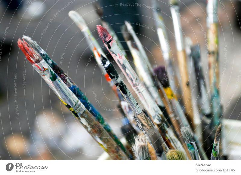 71 [farbpinsel] Farbe Farbstoff Kunst Kreativität Kultur streichen Gemälde Pinsel Ausdruck Sprache Kunsthandwerk musisch geschmackvoll Pinselzwinge
