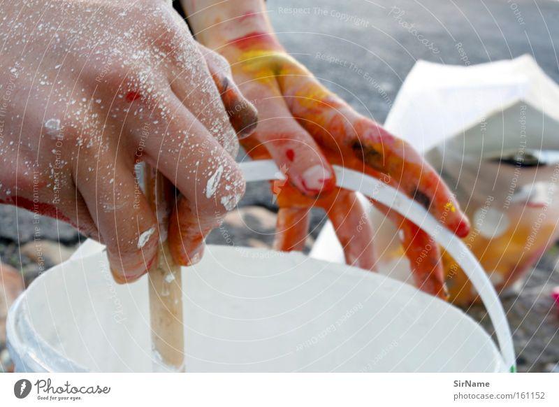 72 [farben rühren] Farbe Farbstoff Kunst Kultur streichen Gemälde Eimer Kunsthandwerk Anstrich Acrylfarbe Farbeimer Malutensilien Farben und Lacke Farbtopf