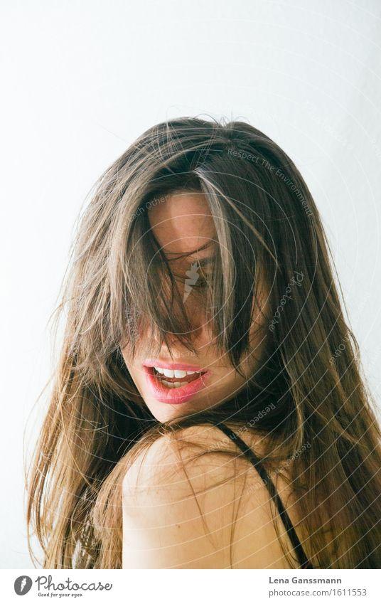 Pinker Lippenstift Mensch Frau Jugendliche Junge Frau Erotik Freude 18-30 Jahre Erwachsene Leben feminin Feste & Feiern Freiheit Haare & Frisuren Party rosa