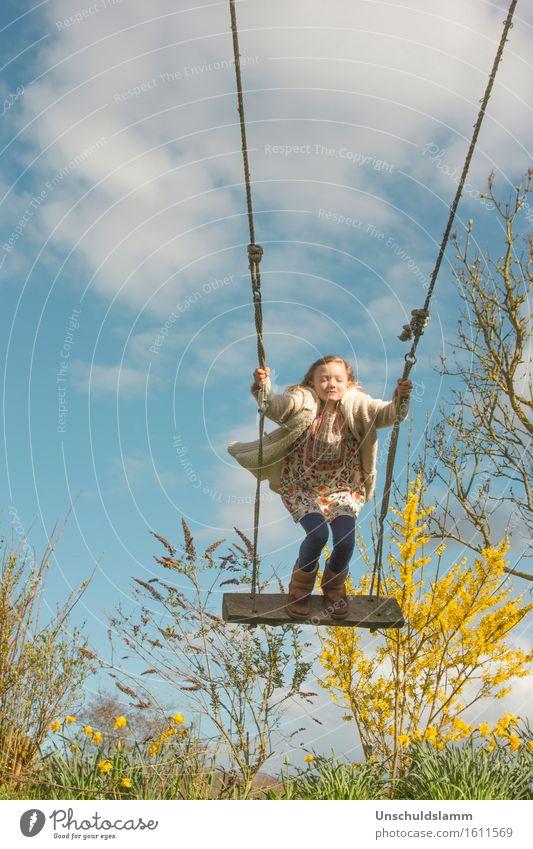 Lieber Frühling.... Mensch Kind Natur Wolken Freude Mädchen Leben Gefühle Frühling Bewegung Spielen Glück fliegen Stimmung träumen Freizeit & Hobby