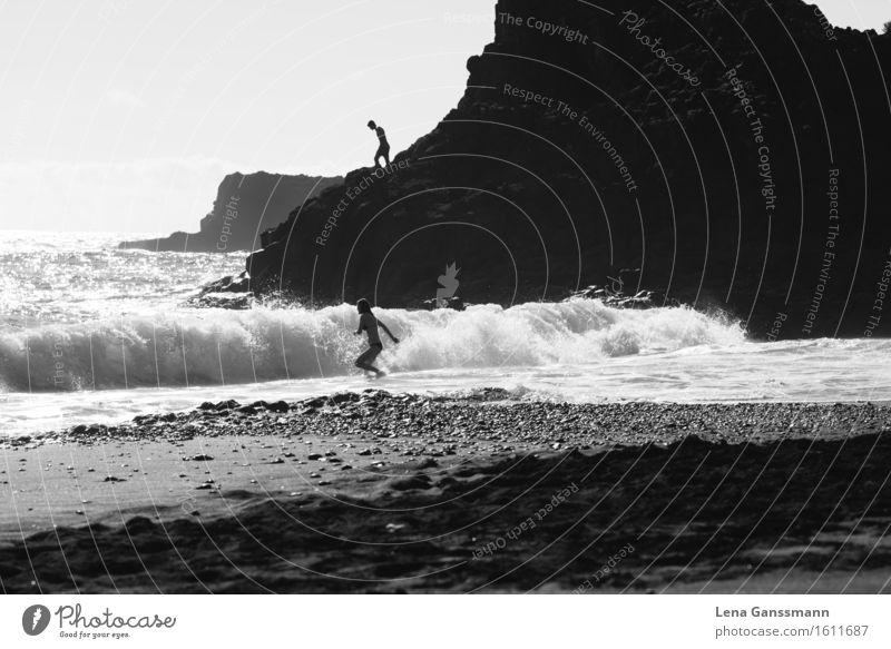 1, 2, und los! Schwimmen & Baden Sommerurlaub Strand Meer Wellen Mensch maskulin feminin Junge Frau Jugendliche Junger Mann Erwachsene 13-18 Jahre 18-30 Jahre