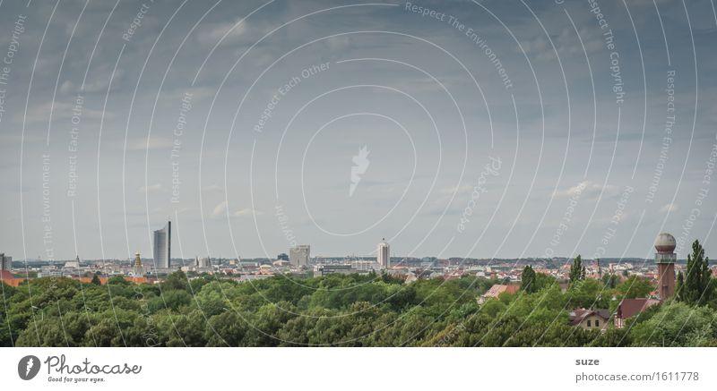 Leeptzsch Himmel Stadt grün Wald Architektur Leben Umwelt Business Gebäude Arbeit & Erwerbstätigkeit Stadtleben Park modern Hochhaus Energiewirtschaft Studium
