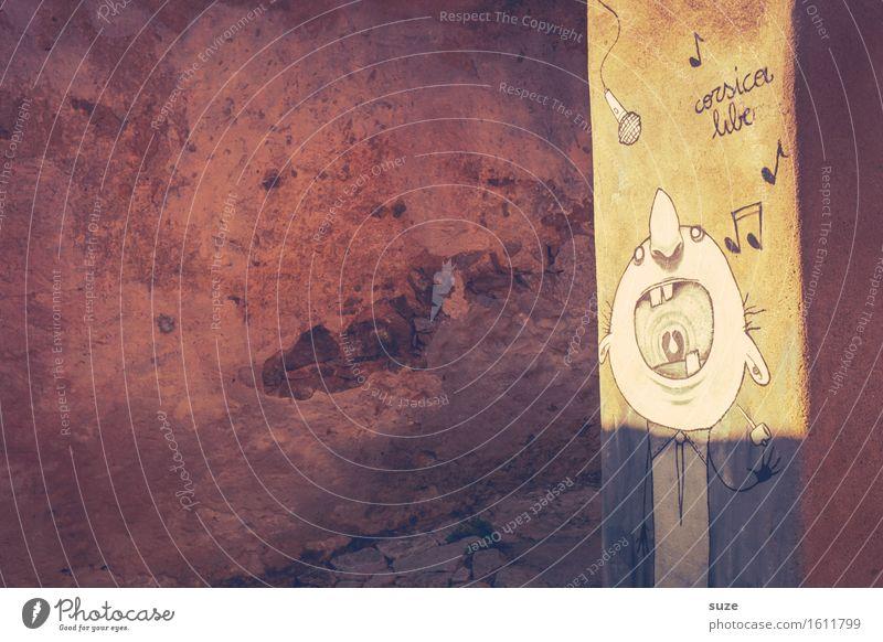 Lautstarker Ferien & Urlaub & Reisen alt Sommer Haus Wärme Leben lustig Kunst Feste & Feiern Fassade Musik Fröhlichkeit Kultur Mund Grafik u. Illustration