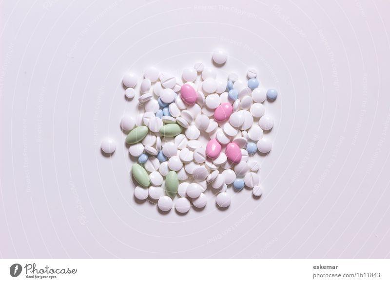 Tabletten blau grün weiß Gesundheit Gesundheitswesen rosa ästhetisch viele Krankheit Medikament Alternativmedizin Sucht Heilung Pastellton Behandlung