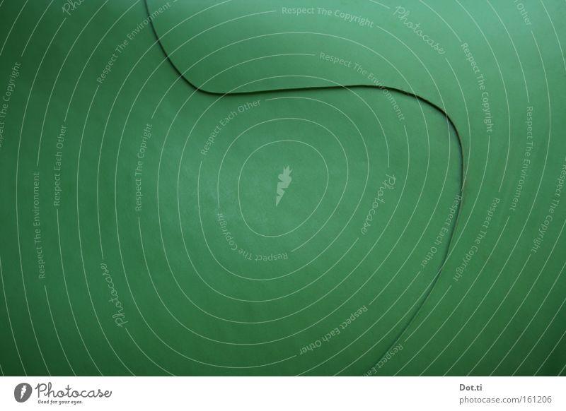 Diskreter Logarithmus grün Farbe Linie rund obskur Kurve Material Oberfläche Verlauf Schwung Gummi Beule Kautschuk elastisch Wellenlinie