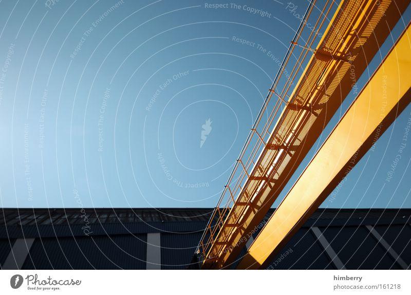 steelraven gelb Industrie Industriefotografie Fabrik Stahl Kran Eisen Spedition Ladung Stahlträger Industrielandschaft Industriegelände