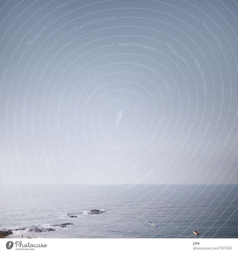 weit weg Wasser Meer Strand ruhig Ferne Freiheit Wasserfahrzeug Küste Horizont Unendlichkeit Indien tief Fernweh sehr wenige