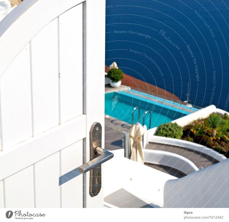 Konstruktion weiß und blau Himmel Natur Ferien & Urlaub & Reisen Stadt alt schön Sommer Landschaft Haus Straße Architektur Gebäude Stein Tourismus