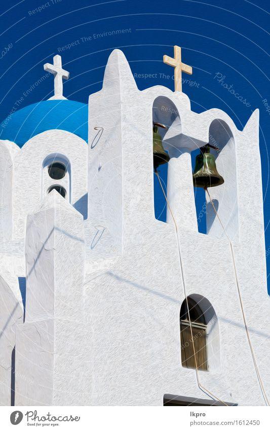 Himmel Ferien & Urlaub & Reisen blau schön Sommer Farbe weiß Landschaft schwarz Architektur Religion & Glaube Gebäude Kunst hell Design Aussicht