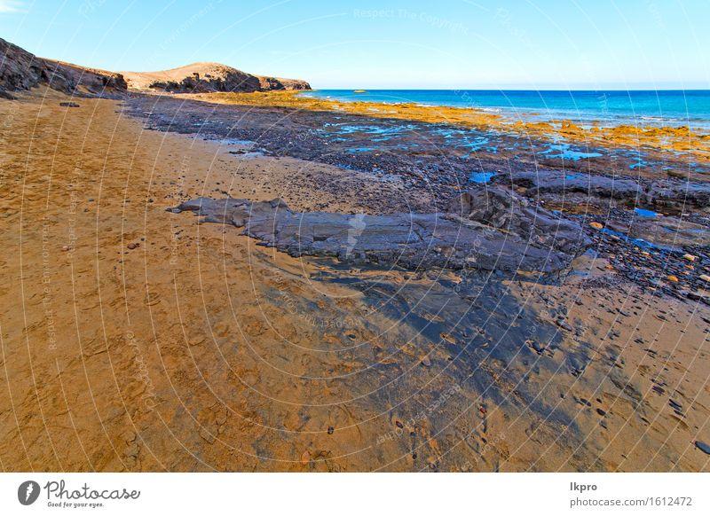 Himmel Natur Ferien & Urlaub & Reisen grün Sommer weiß Meer Erholung Landschaft Wolken Strand Küste Stein Sand Felsen Tourismus