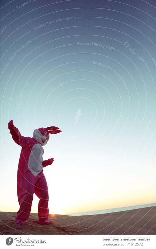 Dance Hase Dance! Kunst außergewöhnlich Party rosa ästhetisch Tanzen Tanzveranstaltung sportlich Ohr trendy trashig Hase & Kaninchen Diät Disco Aggression Kunstwerk