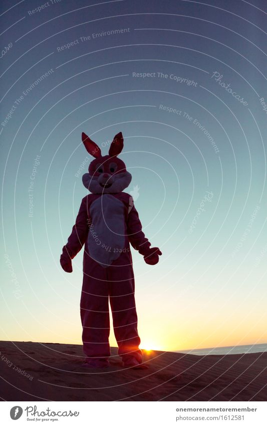 POSEN Kunst ästhetisch rosa Hase & Kaninchen Hasenohren Hasenpfote Kostüm Freude spaßig Spaßvogel Spaßgesellschaft verkleidet Ostern Karneval Unsinn