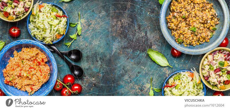 vegetarische salate salat bar von vicuschka ein lizenzfreies stock foto zum thema sommer. Black Bedroom Furniture Sets. Home Design Ideas