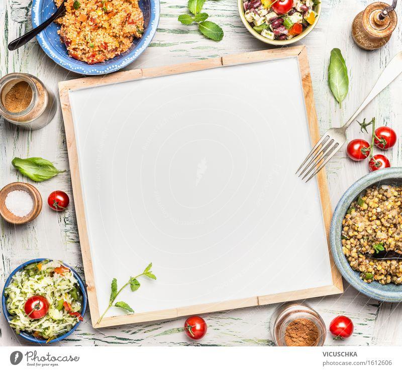 Vegetarisches Salatbuffet Gesunde Ernährung Leben Stil Lebensmittel Design Tisch Kräuter & Gewürze Gemüse Bioprodukte Getreide Restaurant Bar