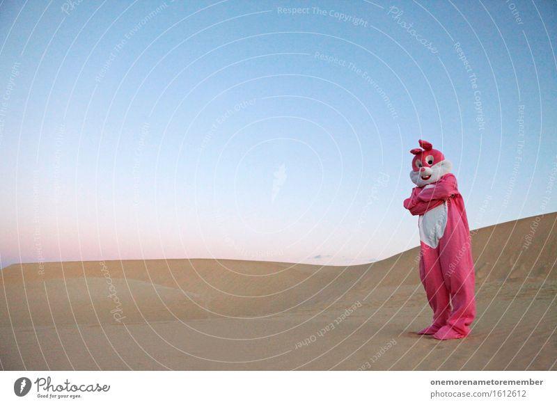 BROBUNNY Kunst ästhetisch rosa Hase & Kaninchen Hasenohren Hasenpfote Ghetto verschränkt verschränken Abwehrhaltung Defensive Kostüm verkleiden Düne