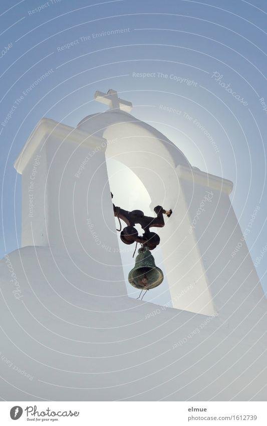 Erleuchtung Ferien & Urlaub & Reisen blau weiß Einsamkeit Gefühle Religion & Glaube Glück Stein Zufriedenheit authentisch Kirche Lebensfreude Kultur Hoffnung