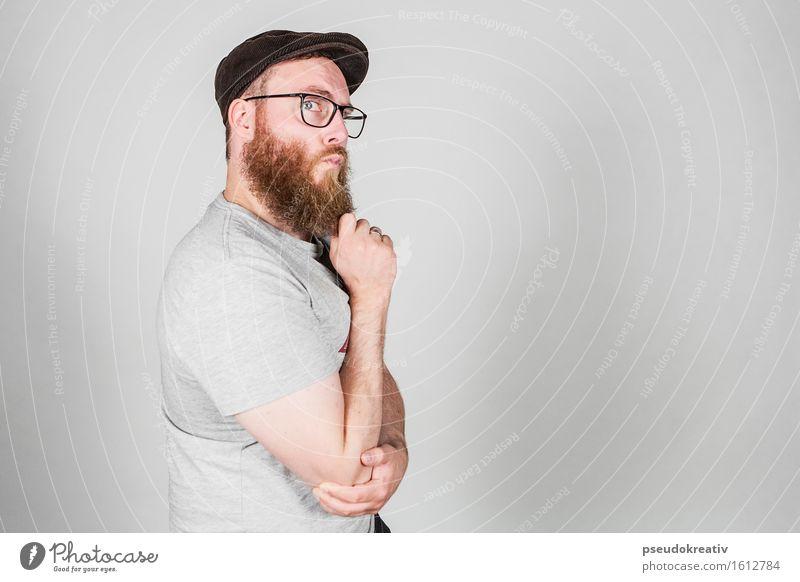 Philippe - thinking about it Lifestyle Stil schön Körperpflege Mensch maskulin Mann Erwachsene Vater Kopf Haare & Frisuren Gesicht Auge Bart Mode Bekleidung