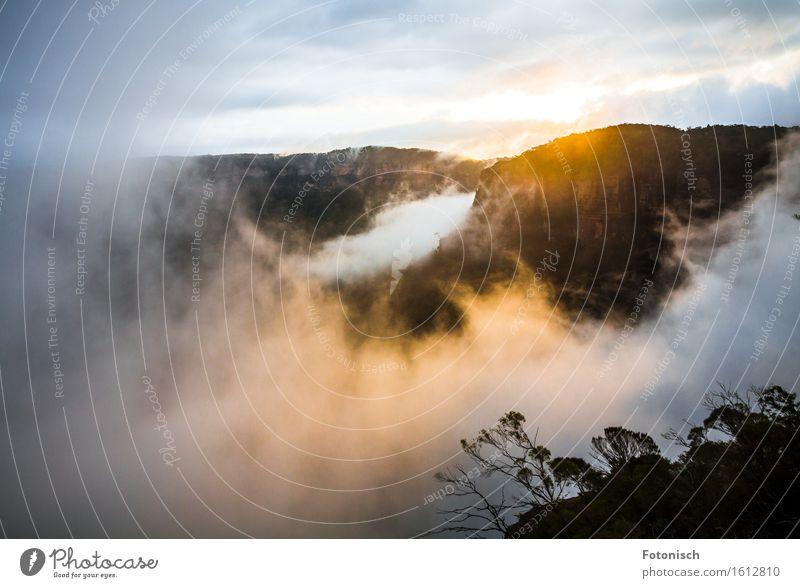 Blue Mountains Sonnenuntergang Umwelt Landschaft Wolken schlechtes Wetter Nebel Berge u. Gebirge Blue mountains Ferien & Urlaub & Reisen Tourismus dramatisch