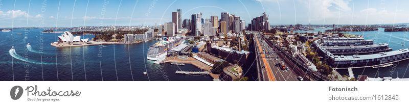 Hafen von Sydney Panorama Architektur Opernhaus Wasser Australien Australien + Ozeanien Stadt Hafenstadt Stadtzentrum Hochhaus Bankgebäude Sehenswürdigkeit