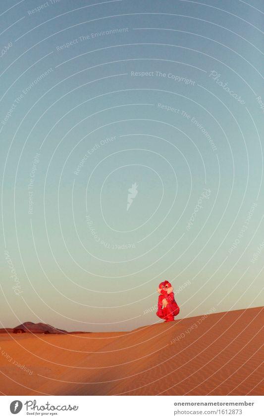 Hanghase Kunst Künstler Umwelt Natur Sommer Klima Klimawandel Hügel Berge u. Gebirge ästhetisch Hase & Kaninchen Hasenohren Kostüm rosa Himmel hocken Freude