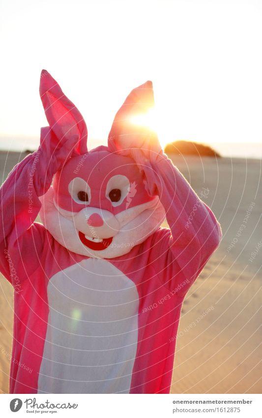 ohmannoman Kunst Kunstwerk ästhetisch Hase & Kaninchen Hasenohren Hasenpfote Sonne Ostern rosa Kostüm Freude spaßig Spaßvogel Spaßgesellschaft lustig Unsinn