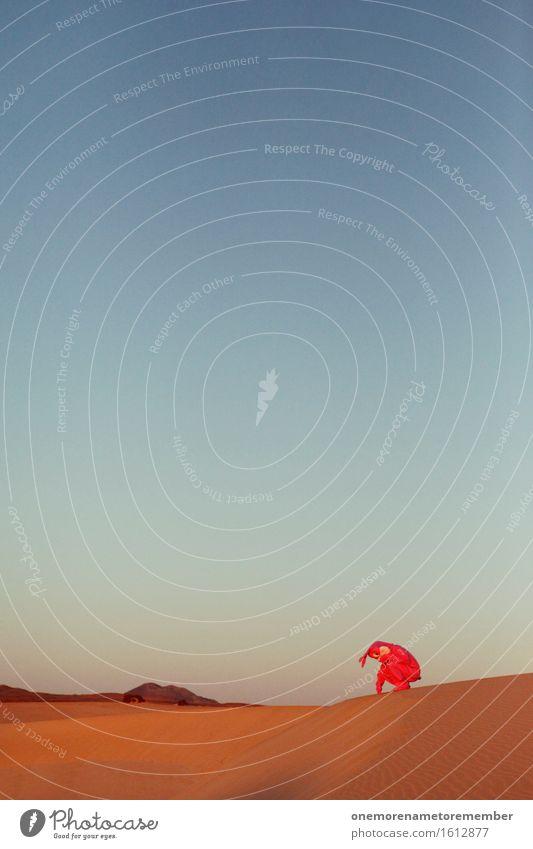 you don't see me Kunst Kunstwerk ästhetisch Hase & Kaninchen Hasenohren Wüste verstecken rosa Blauer Himmel Eyecatcher verkleidet Kostüm Freude Unsinn Farbfoto