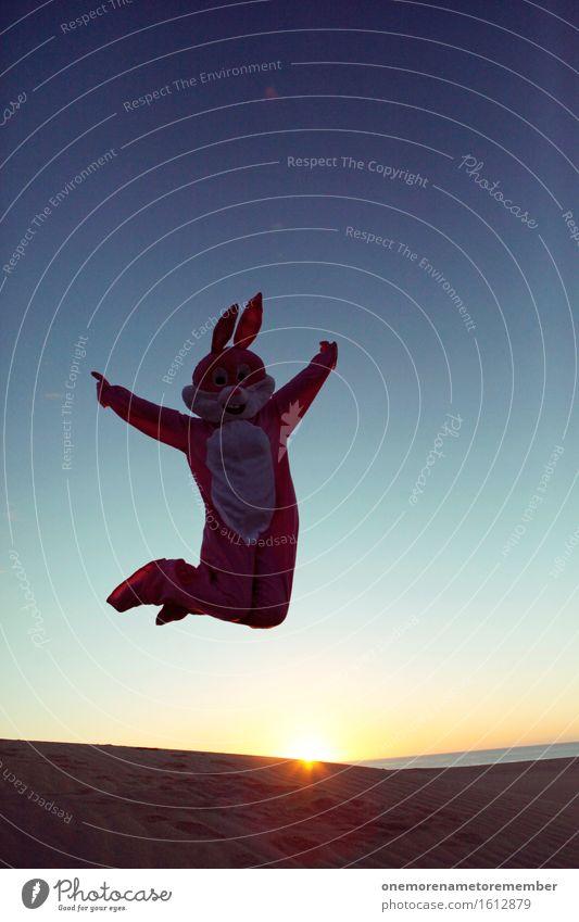 Jipp Jipp Kunst Umwelt Natur ästhetisch Hase & Kaninchen springen Sprungbrett sprunghaft Sprungbein Sprungkraft Sprunggelenk rosa Hasenohren Hasenzahn Hasenjagd