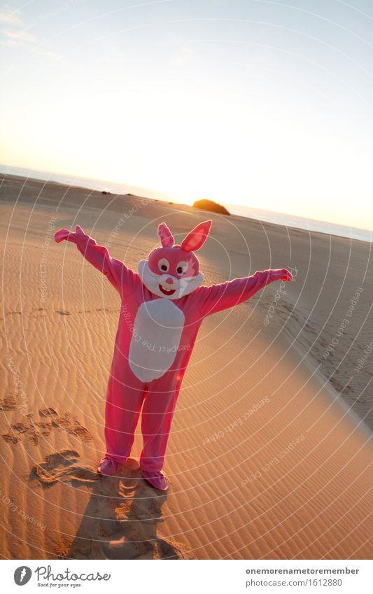Tadaaa! Kunst Kunstwerk ästhetisch Hase & Kaninchen Präsentation Hasenohren Hasenjagd Hasenpfote Kostüm verkleidet Freude spaßig Spaßvogel Spaßgesellschaft rosa