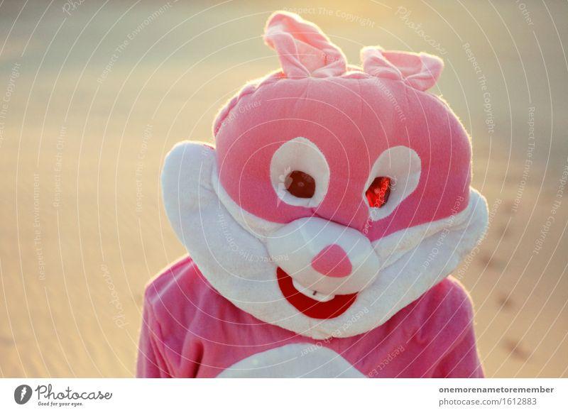 Hasensommer Kunst Kunstwerk ästhetisch Hase & Kaninchen Hasenohren rosa verkleidet lustig Freude spaßig Spaßvogel Spaßgesellschaft Kostüm Jugendkultur Farbfoto