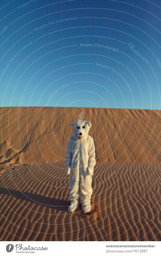Stillstand Kunst Kunstwerk ästhetisch stagnierend Profil Reifenprofil Sand Wüste Irritation Klimawandel Fell Wärme Einsamkeit tierisch verkleidet Freude spaßig