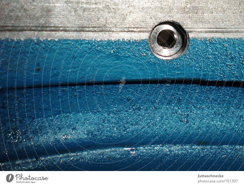 Loch Metall Industrie Technik & Technologie Metallwaren türkis Maschine Loch Qualität technisch Pumpe lackiert