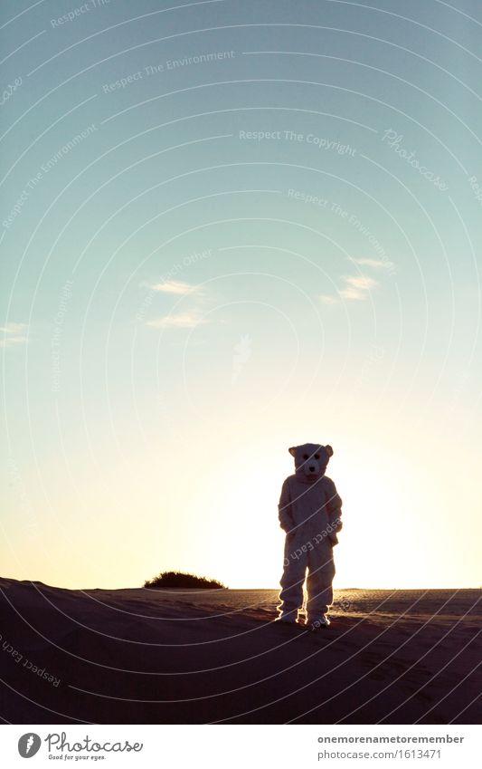 nicht abgeholt Kunst Kunstwerk ästhetisch Eisberg Bär Sonne Gegenlicht Schatten Schattenseite Schattendasein Klimawandel Horizont Sommer Sommerurlaub Fell