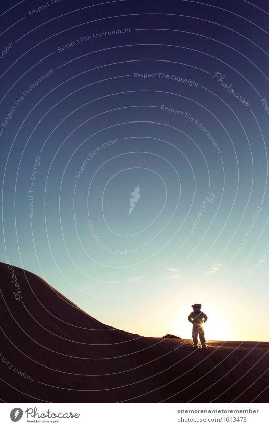 von woanders Kunst Kunstwerk ästhetisch außergewöhnlich außerirdisch Außerirdischer außer Atem außerorts Düne Erde Planet Sonne unheimlich Blauer Himmel Monster