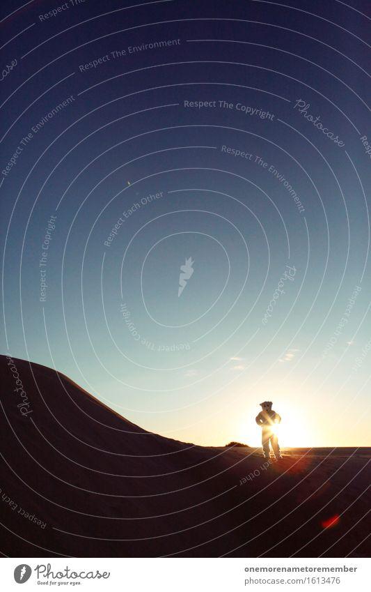 Im Frieden komm ich Kunst Kunstwerk ästhetisch erleuchten Exklusivität Bär Eisbär Wüste Ungeheuer ungeheuerlich Monster Sonnenaufgang Tier Existenz Schatten